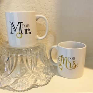 EUC. I'm her Mr./ I'm his Mrs. Coffee mugs by TMD